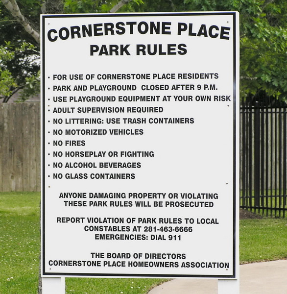 Park Rules